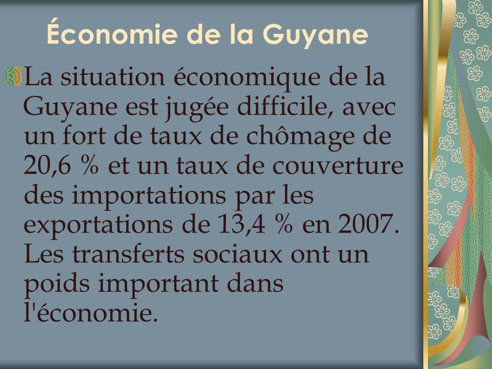 Économie de la Guyane