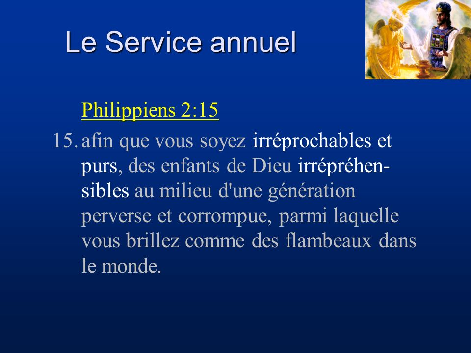 Le Service annuel Philippiens 2:15