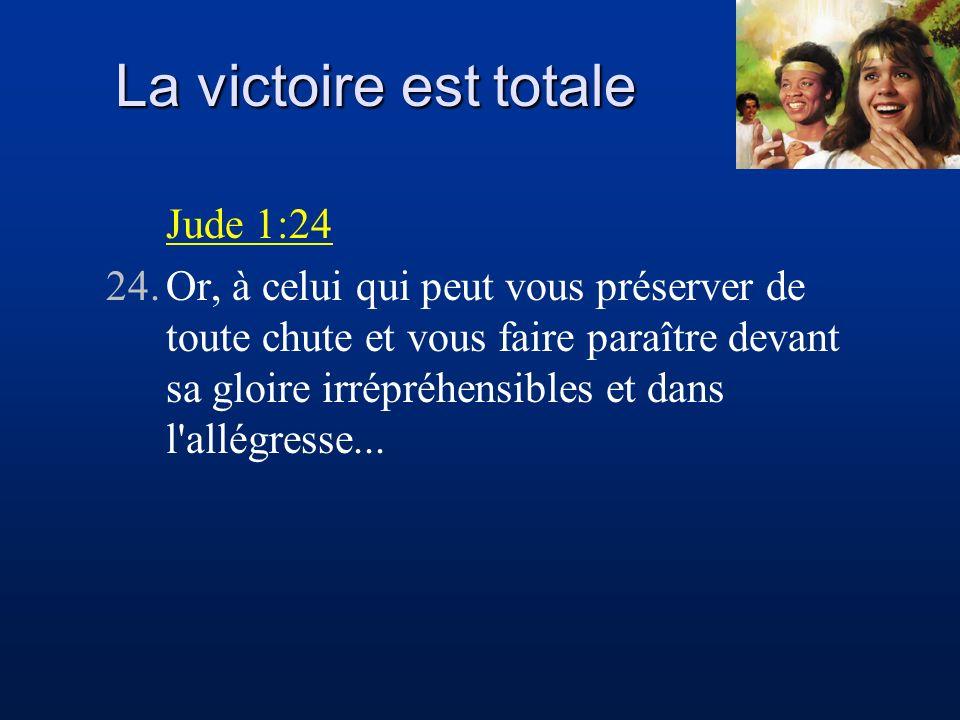 La victoire est totale Jude 1:24