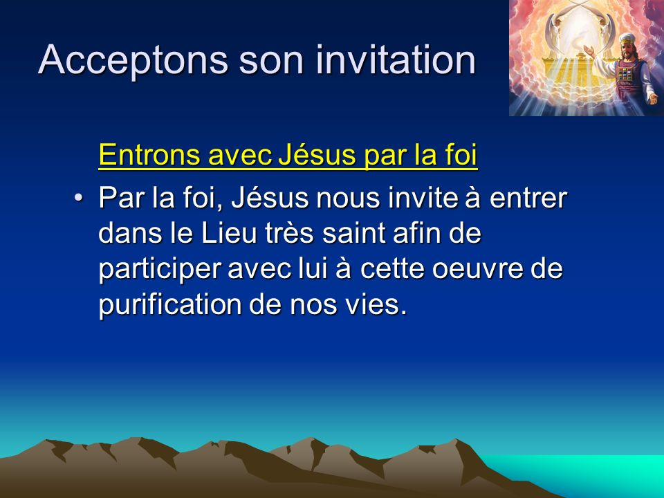 Acceptons son invitation