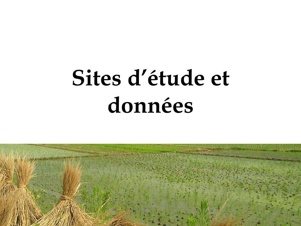 Sites d'étude et données