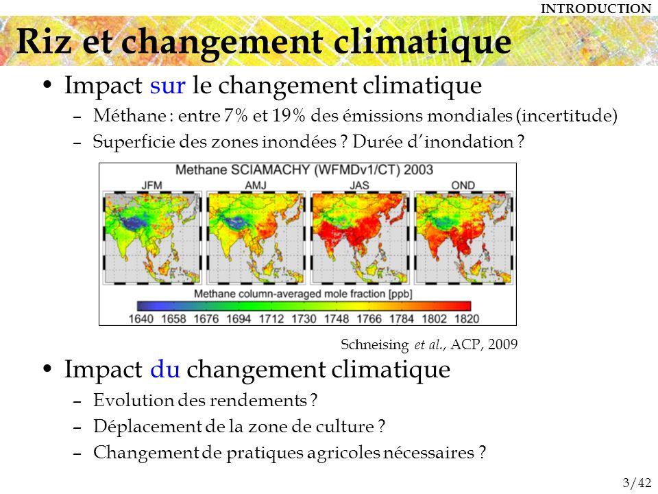 Riz et changement climatique