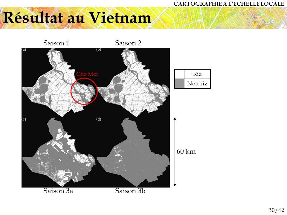 Résultat au Vietnam Saison 1 Saison 2 60 km Saison 3a Saison 3b
