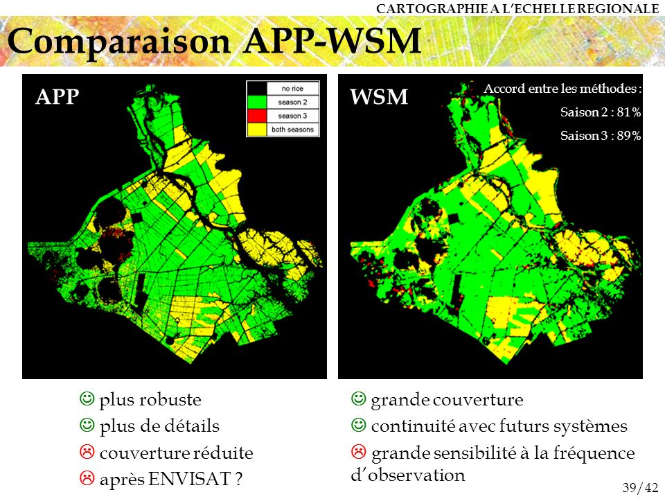 Comparaison APP-WSM APP WSM  plus robuste  plus de détails