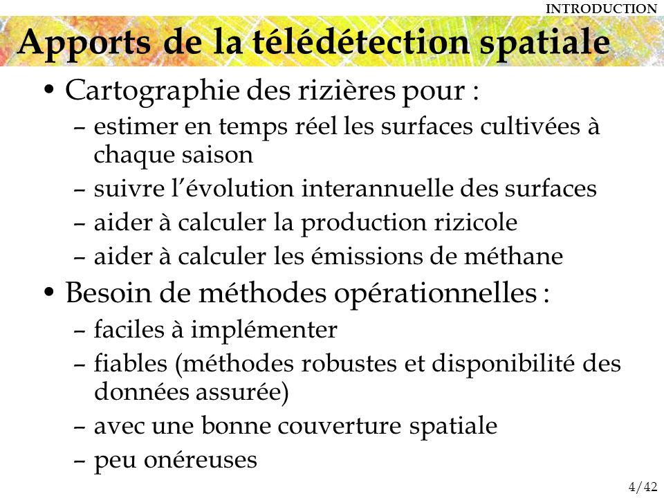 Apports de la télédétection spatiale