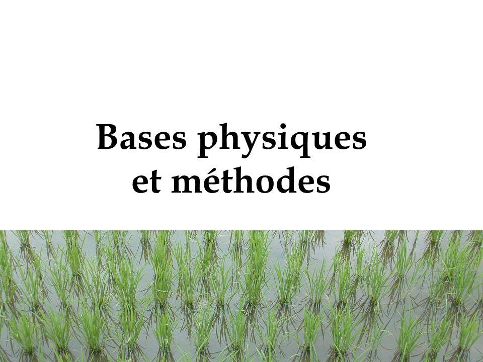 Bases physiques et méthodes