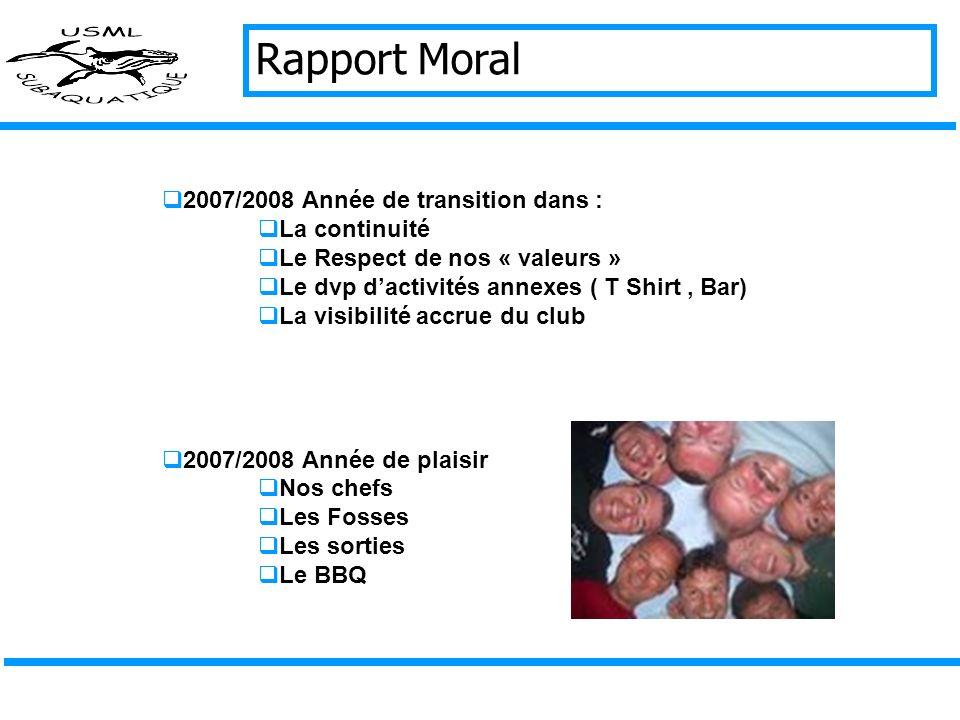 Rapport Moral 2007/2008 Année de transition dans : La continuité
