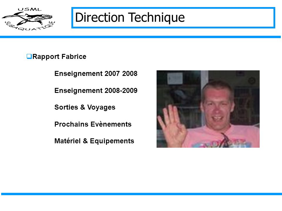 Direction Technique Rapport Fabrice Enseignement 2007 2008