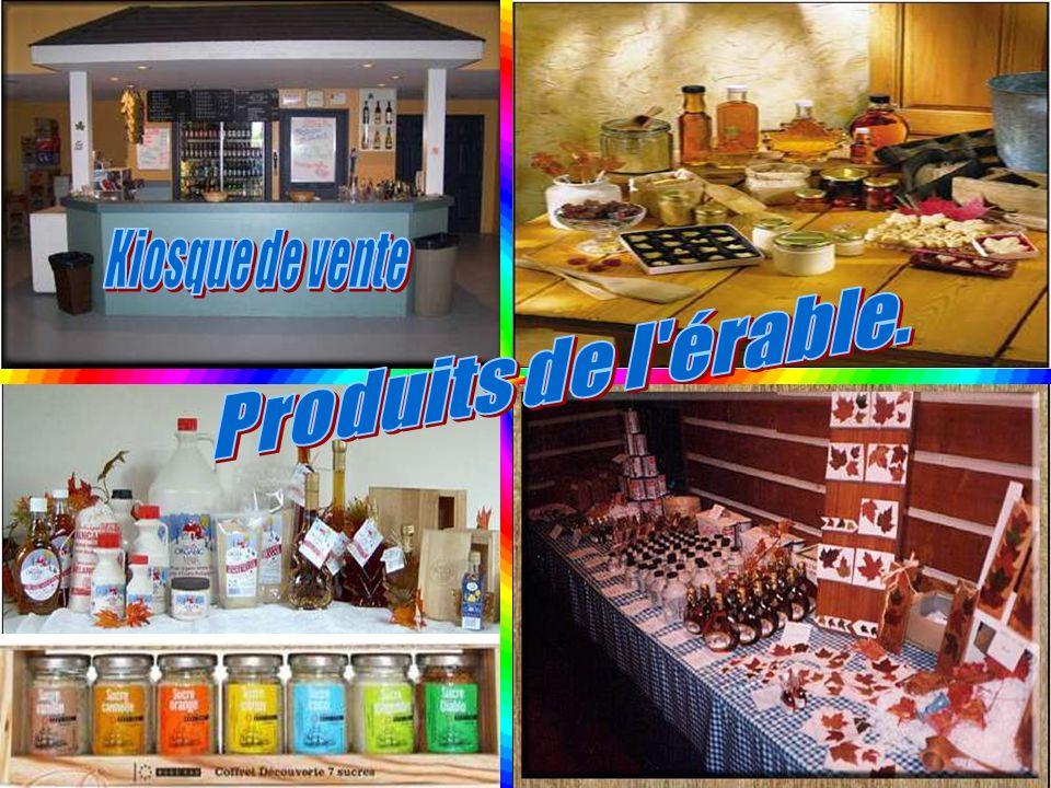 Kiosque de vente Produits de l érable.