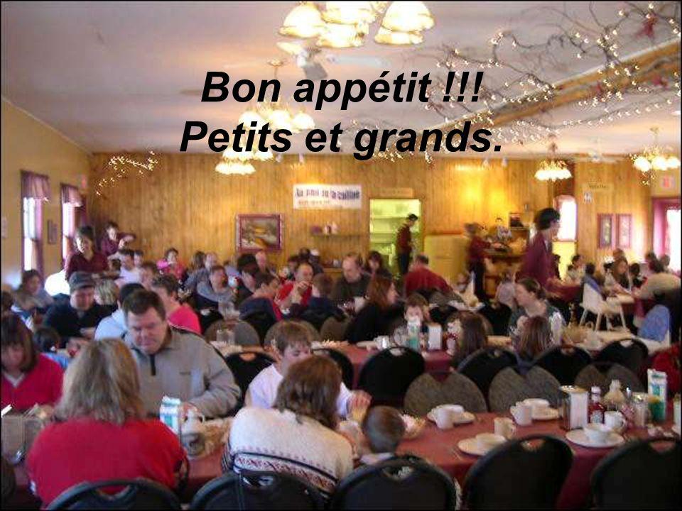 Bon appétit !!! Petits et grands.