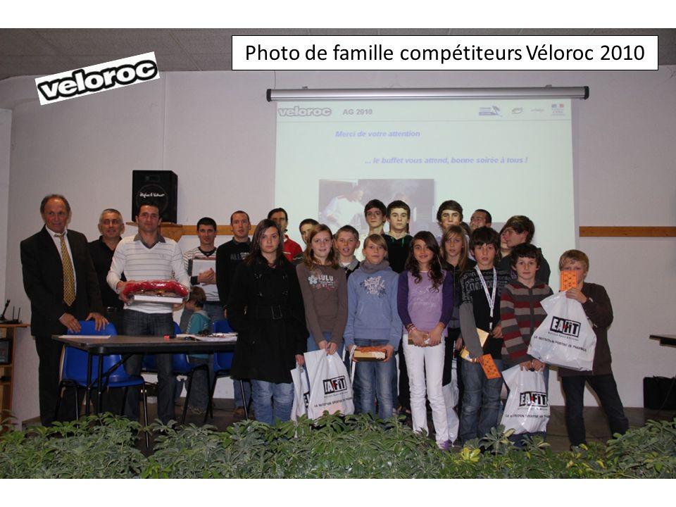 Photo de famille compétiteurs Véloroc 2010