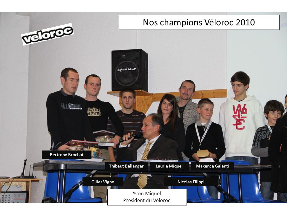 Nos champions Véloroc 2010 Yvon Miquel Président du Véloroc