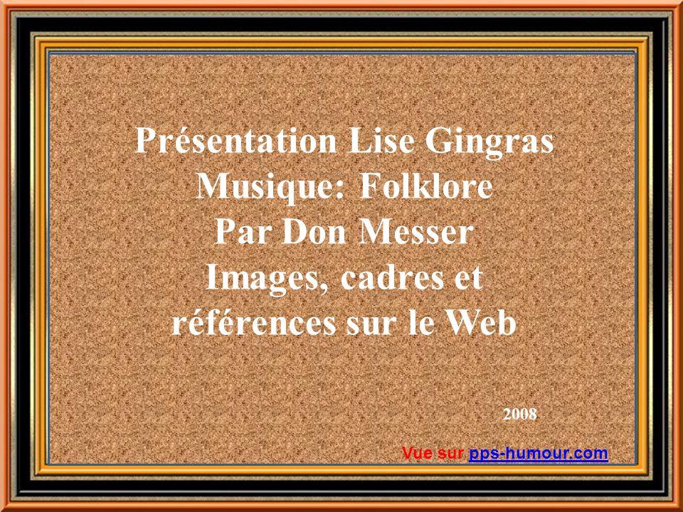 Présentation Lise Gingras Images, cadres et références sur le Web