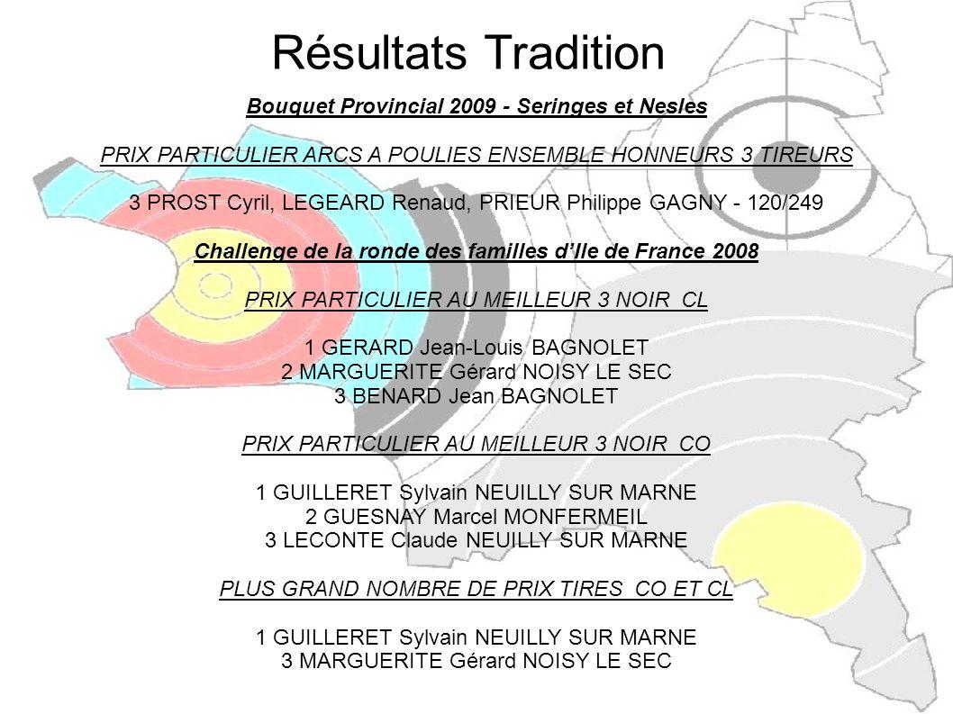 Résultats Tradition Bouquet Provincial 2009 - Seringes et Nesles
