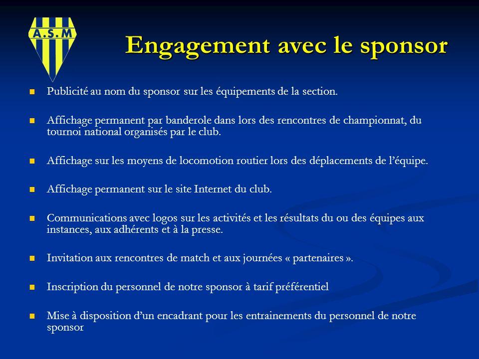 Engagement avec le sponsor