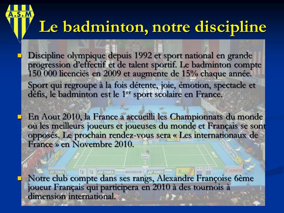 Le badminton, notre discipline