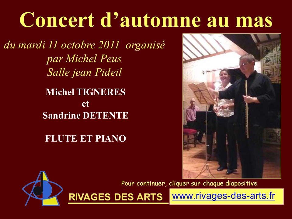 Concert d'automne au mas