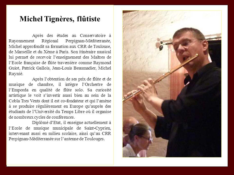 Michel Tignères, flûtiste