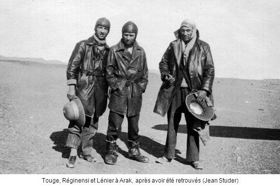 Touge, Réginensi et Lénier à Arak, après avoir été retrouvés (Jean Studer)