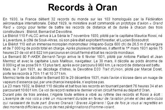 Records à Oran