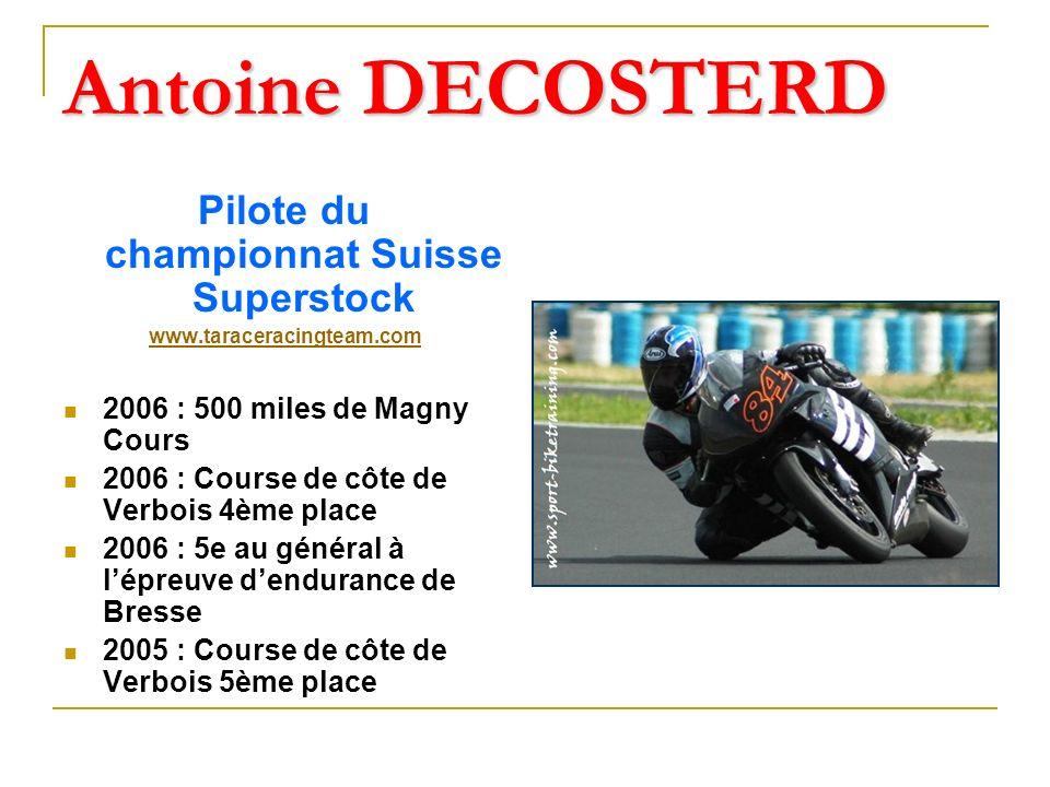 Pilote du championnat Suisse Superstock
