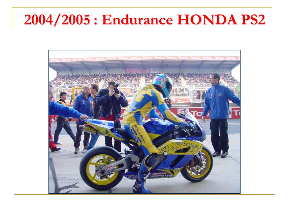 2004/2005 : Endurance HONDA PS2