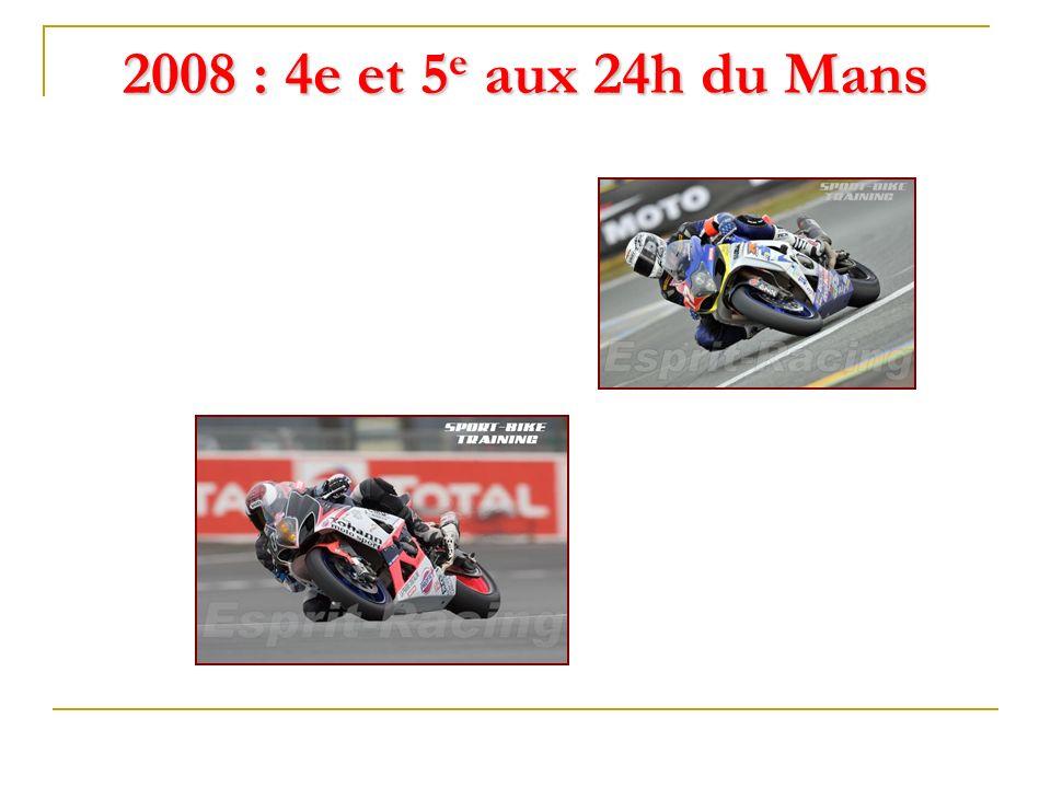 2008 : 4e et 5e aux 24h du Mans