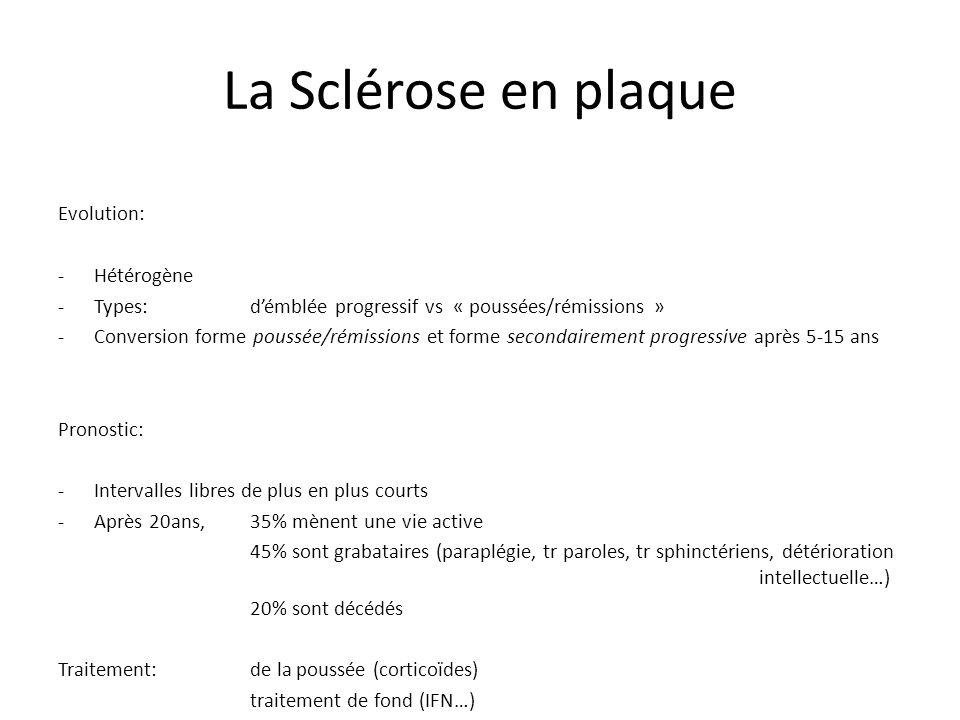 La Sclérose en plaque Evolution: Hétérogène