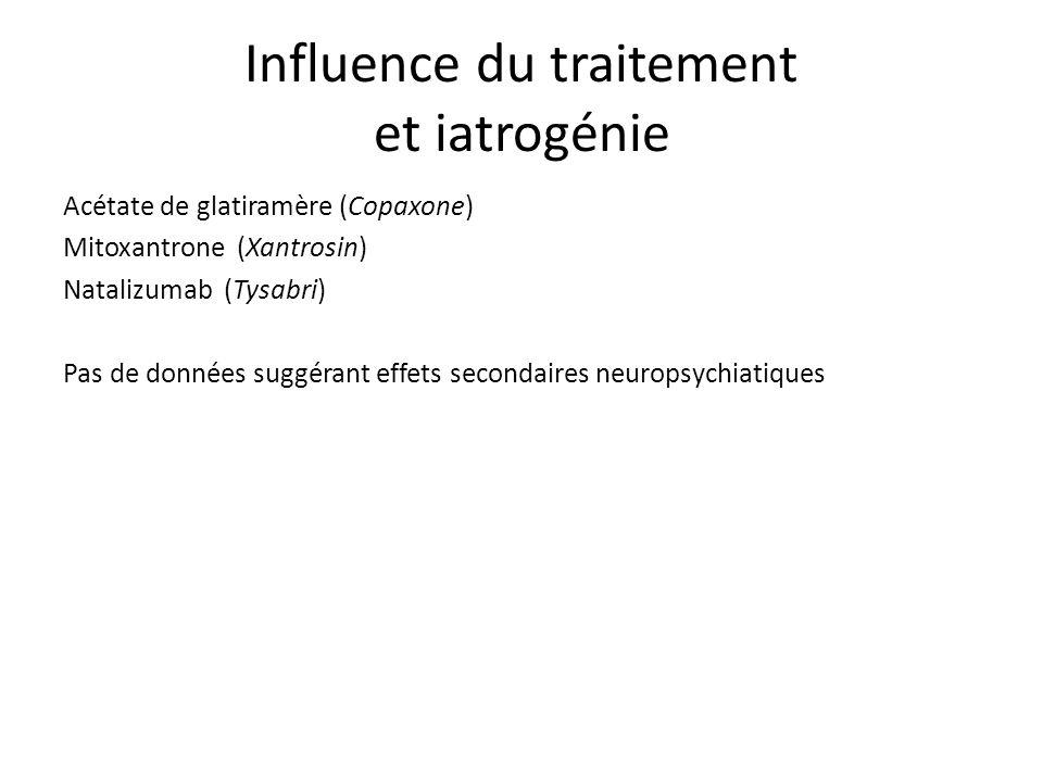 Influence du traitement et iatrogénie