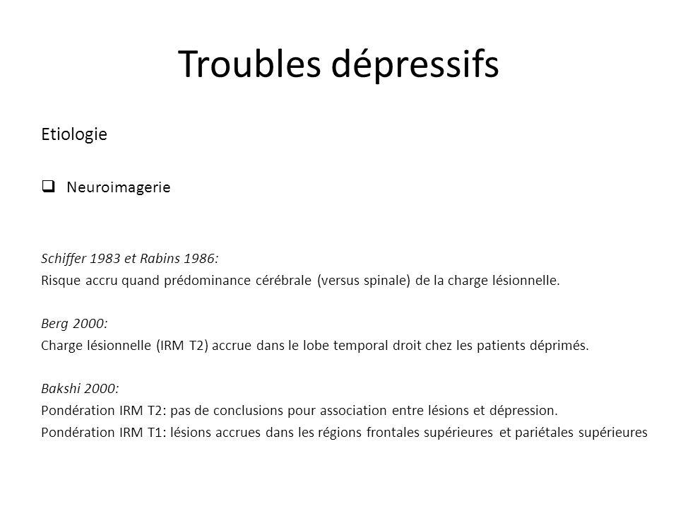 Troubles dépressifs Etiologie Neuroimagerie