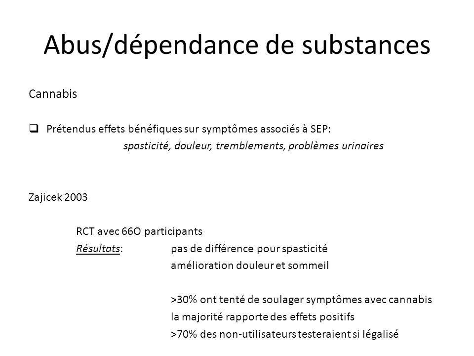 Abus/dépendance de substances