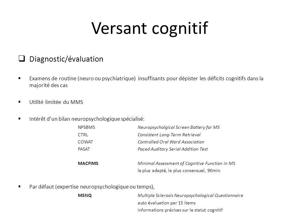 Versant cognitif Diagnostic/évaluation