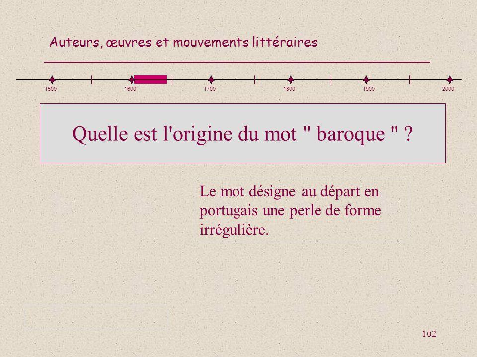 Quelle est l origine du mot baroque