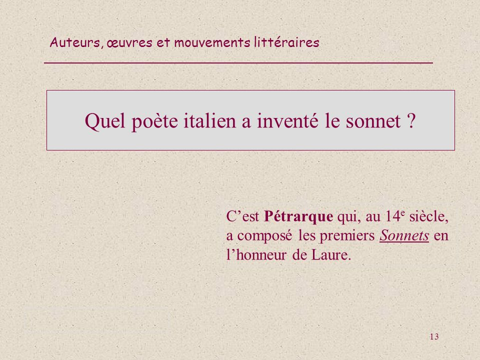 Quel poète italien a inventé le sonnet