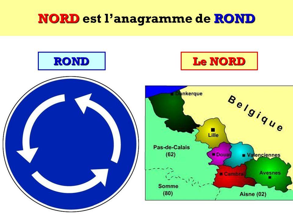 NORD est l'anagramme de ROND