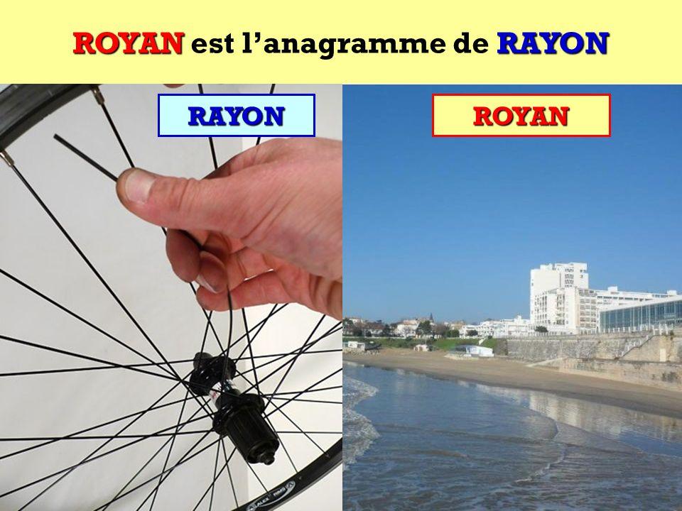 ROYAN est l'anagramme de RAYON
