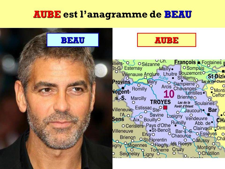 AUBE est l'anagramme de BEAU