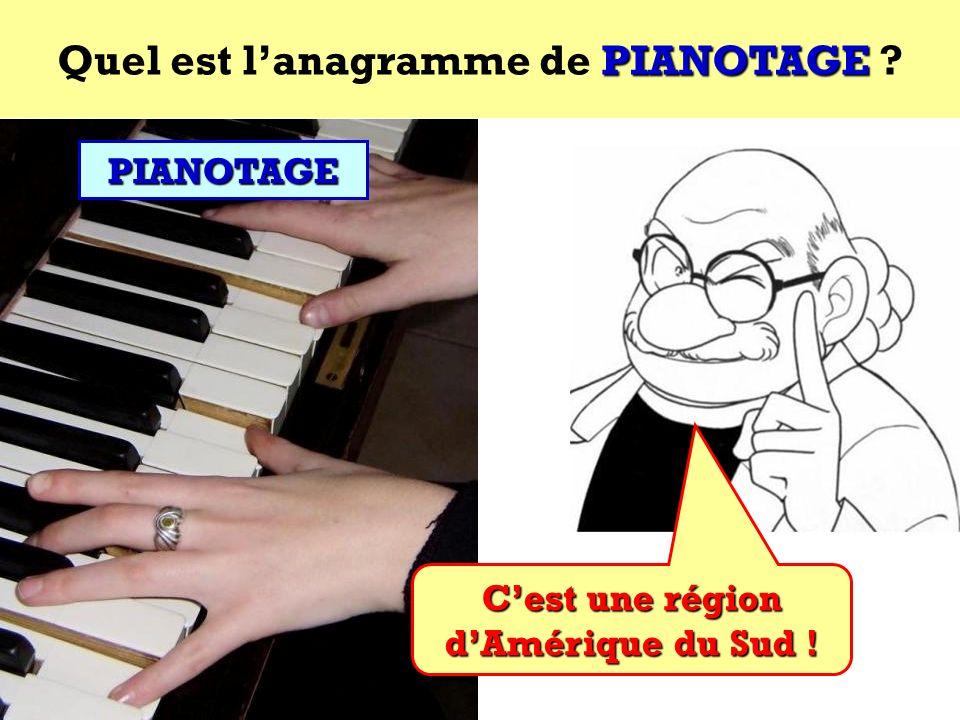 Quel est l'anagramme de PIANOTAGE