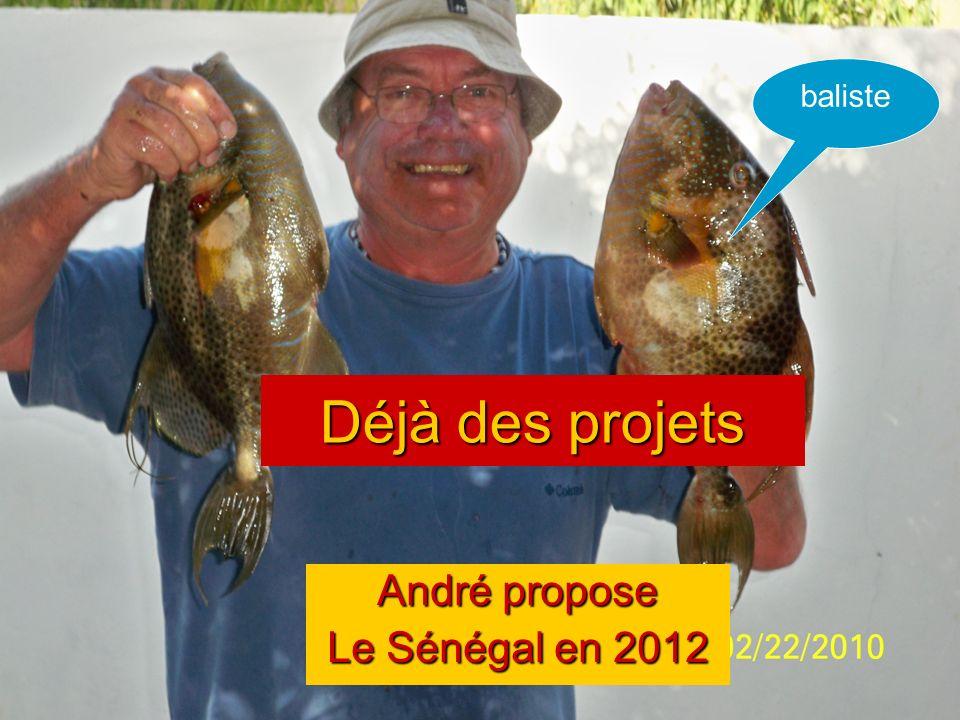 André propose Le Sénégal en 2012