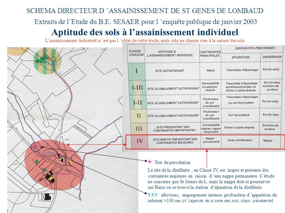 SCHEMA DIRECTEUR D 'ASSAINISSEMENT DE ST GENES DE LOMBAUD