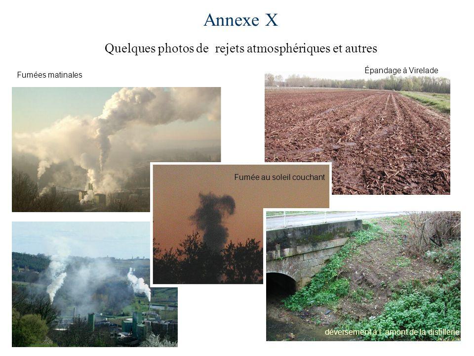 Annexe X Quelques photos de rejets atmosphériques et autres