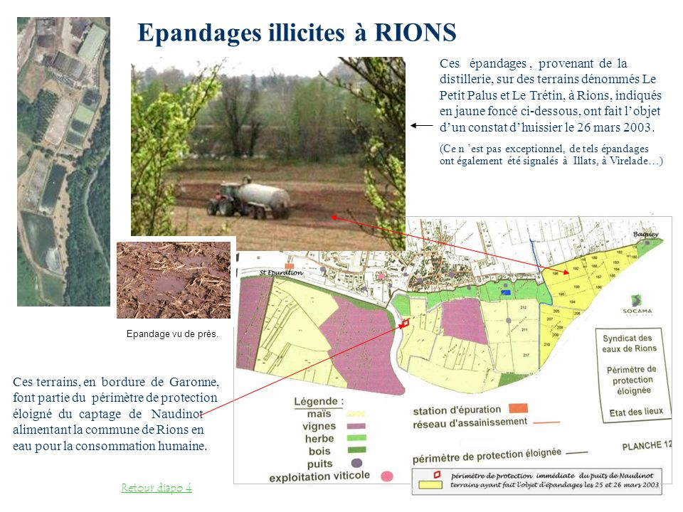 Epandages illicites à RIONS