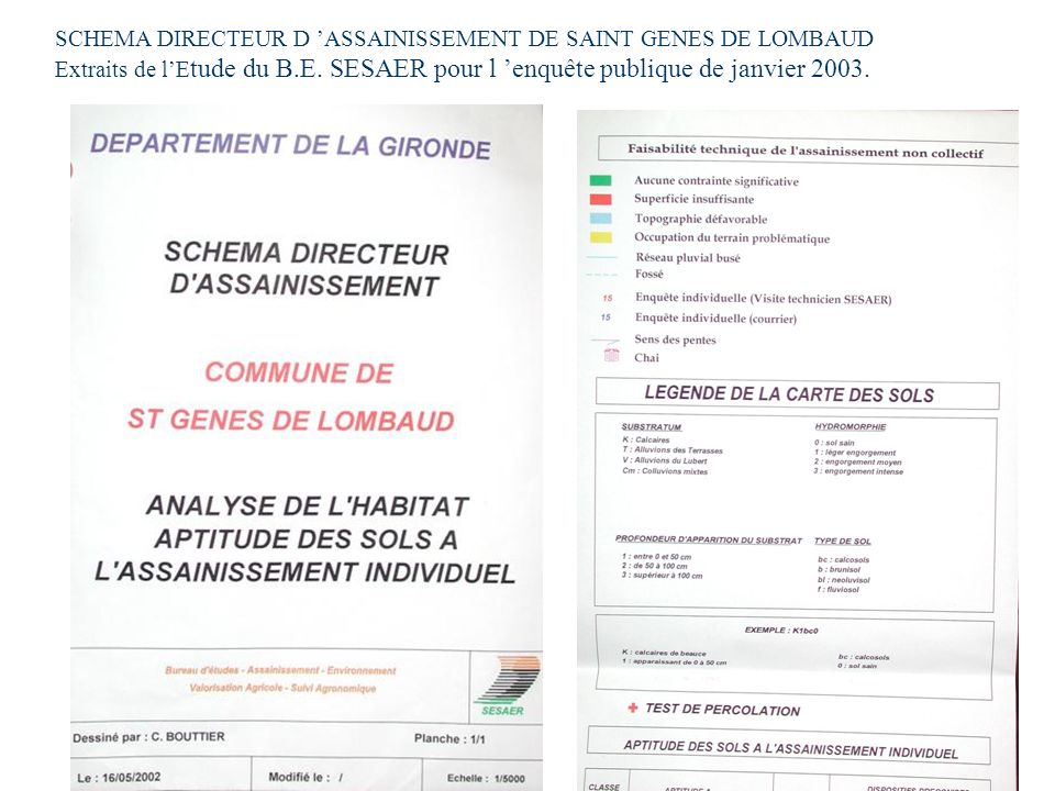 SCHEMA DIRECTEUR D 'ASSAINISSEMENT DE SAINT GENES DE LOMBAUD