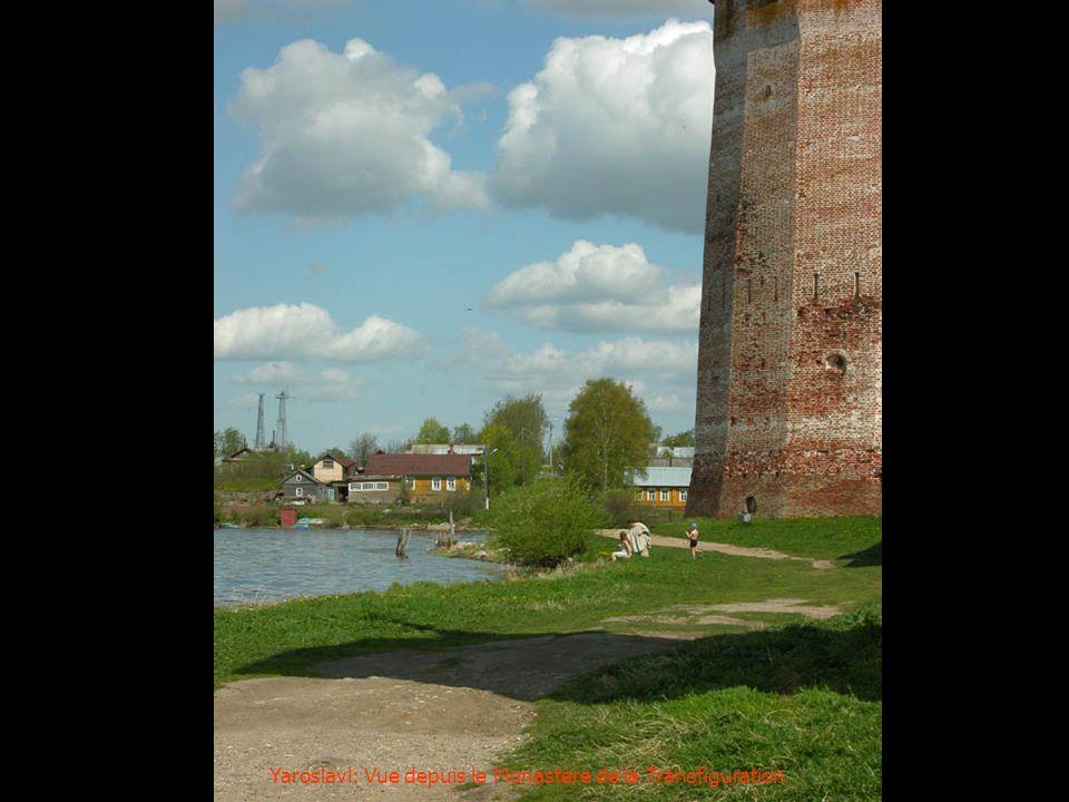Yaroslavl: Vue depuis le Monastère de la Transfiguration