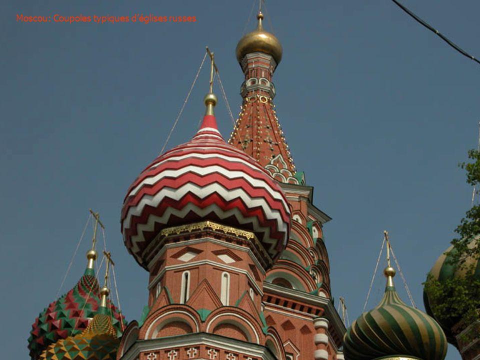 Moscou: Coupoles typiques d'églises russes