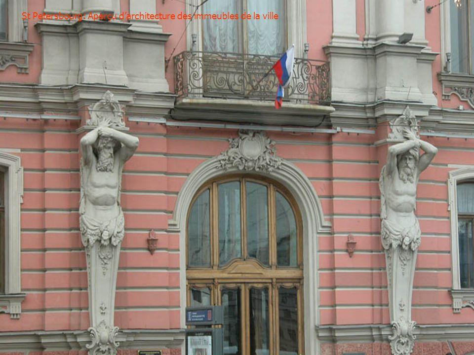 St Petersbourg: Aperçu d'architecture des immeubles de la ville