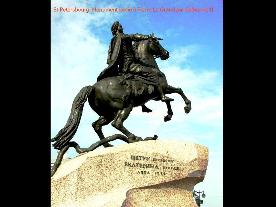 St Petersbourg: Monument dédié à Pierre Le Grand par Catherine II