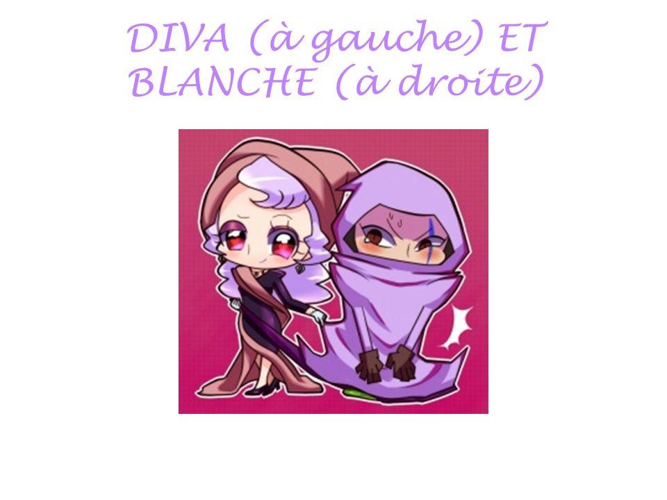 DIVA (à gauche) ET BLANCHE (à droite)