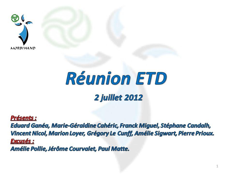Réunion ETD 2 juillet 2012 Présents :