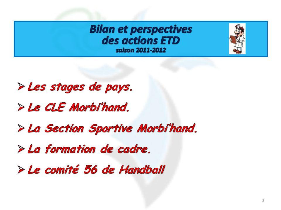 Bilan et perspectives des actions ETD saison 2011-2012